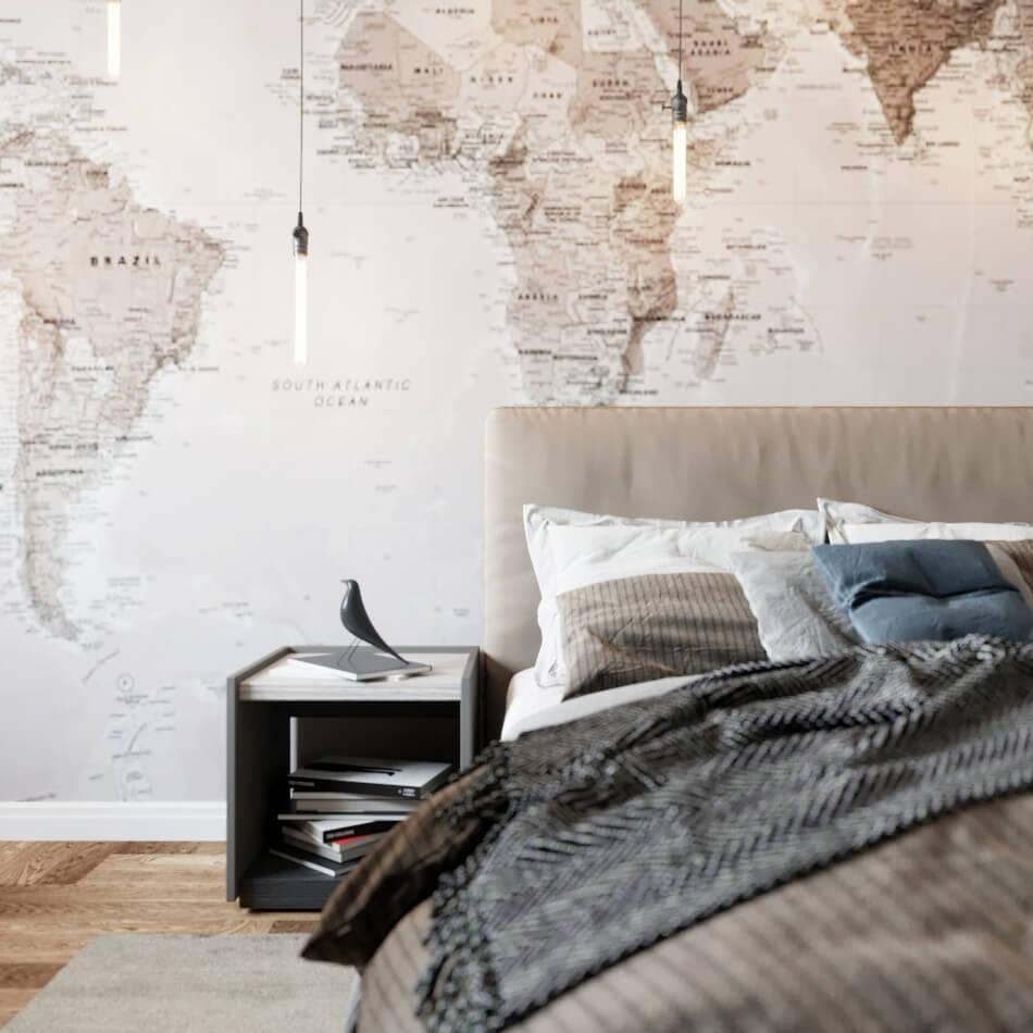 Дизайн проект спальни в современном стиле