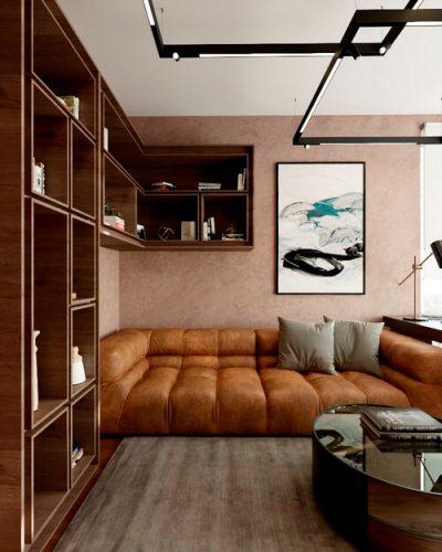 Домашний кабинет в современном стиле