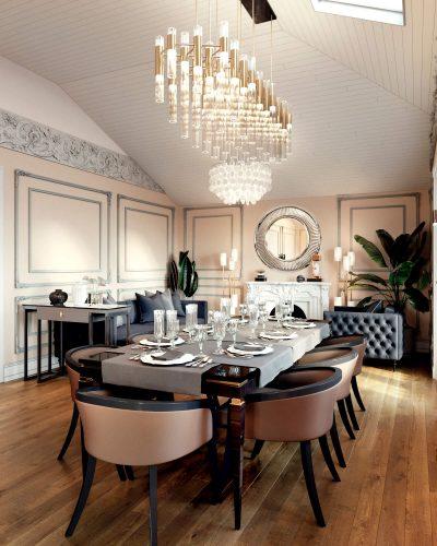 Парадная кухня-гостиная
