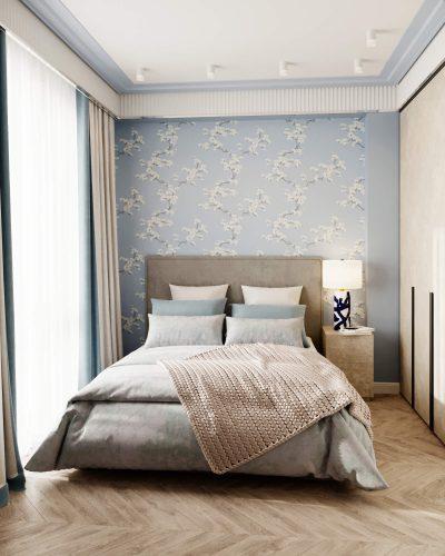 Гостевая спальня в голубых тонах