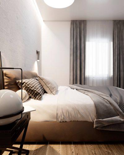 Светлая минималистичная спальня