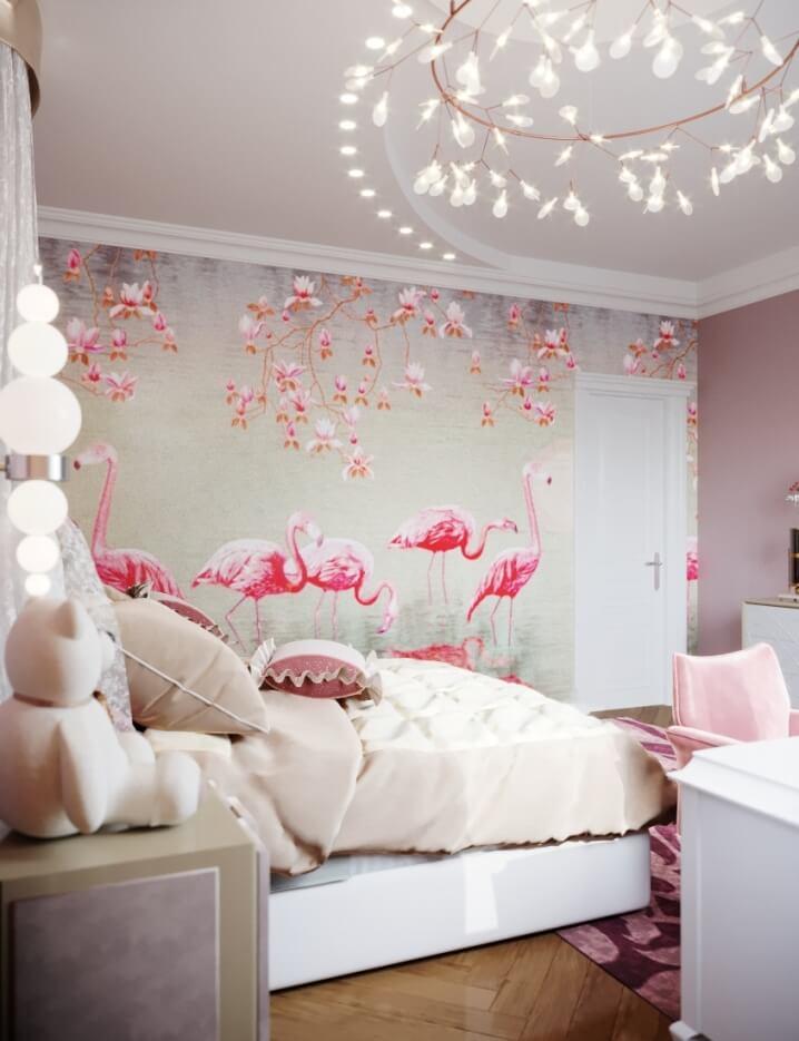 Цветная детская для девочки в розовых оттенках