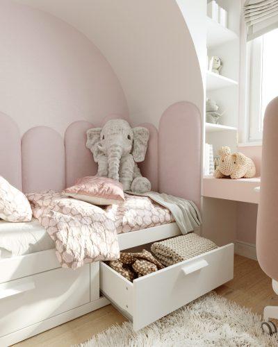 Детская для девочки в розовых оттенках