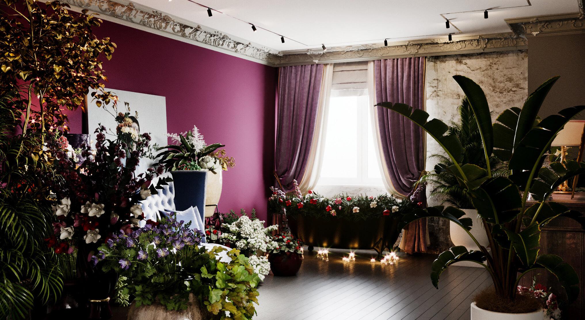 Холл цветочного бутика