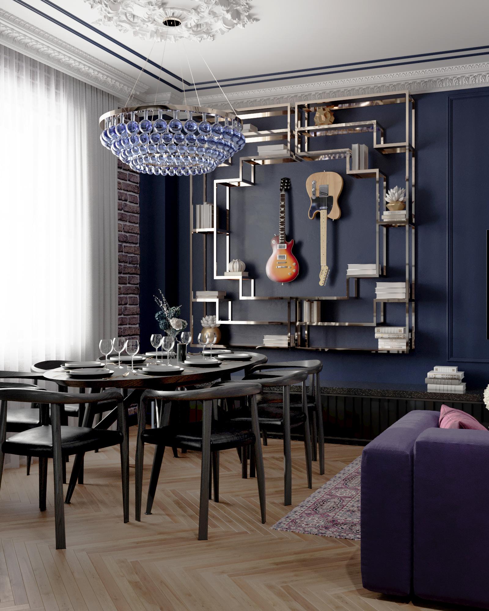 Дизайн интерьера квартиры студии в Краснодаре