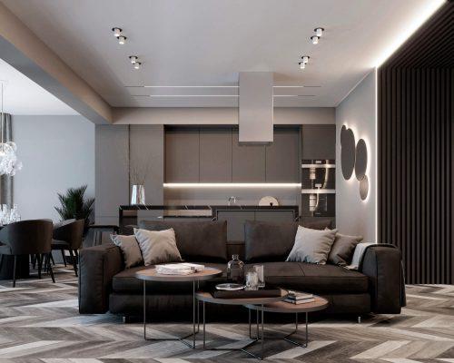 Дизайн проект квартиры 2 комнатной