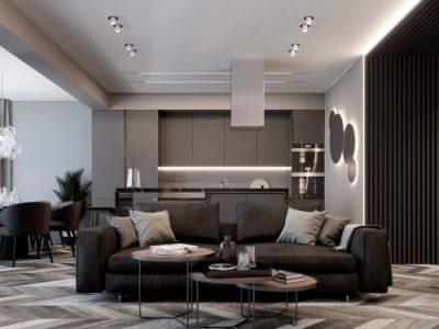 Дизайн проект квартиры 4 комнаты